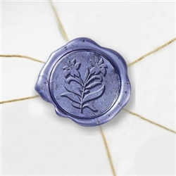"Self Adhesive Symbol Wax Seal Stickers  1 1/4"" - Lily"