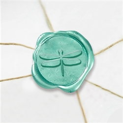 "Self Adhesive Symbol Wax Seal Stickers  1 1/4"" - Dragonfly"