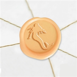 "Self Adhesive Symbol Wax Seal Stickers  1 1/4"" - Mermaid"