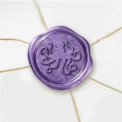 "Self Adhesive Symbol Wax Seal Stickers  1 1/4"" - Octopus"