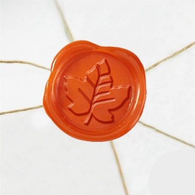 "Self Adhesive Symbol Wax Seal Stickers  1 1/4"" - Maple Leaf"
