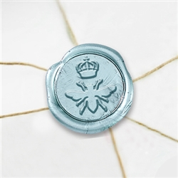 "Self Adhesive Symbol Wax Seal Stickers  1 1/4"" - Queen Bee"