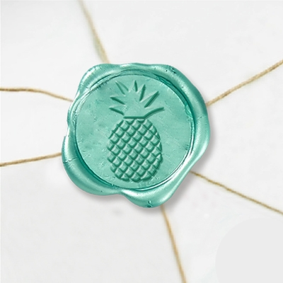 "Self Adhesive Symbol Wax Seal Stickers  1 1/4"" - Pineapple"