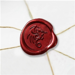 "Self Adhesive Symbol Wax Seal Stickers  1 1/4"" - Flying Dragon"