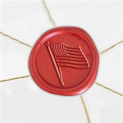 "Self Adhesive Symbol Wax Seal Stickers  1 1/4"" - American Flag"