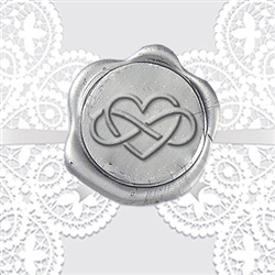 Infinity Heart Adhesive Wax Seals - Wedding Symbol