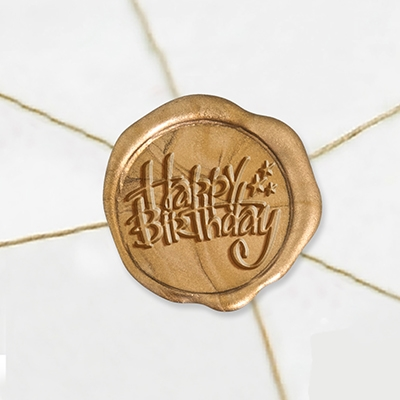 "Self Adhesive Symbol Wax Seal Stickers  1 1/4"" - Happy Birthday"