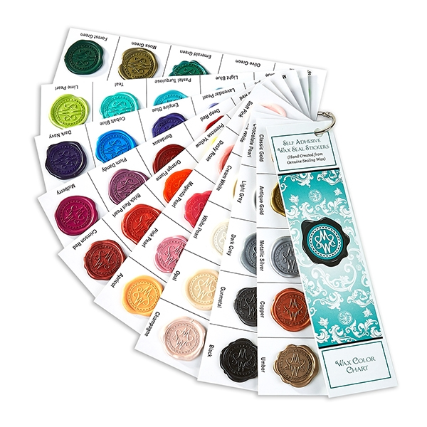 Swatch Fan Deck -Hand-Pressed Self Adhesive Wax Seal Stickers