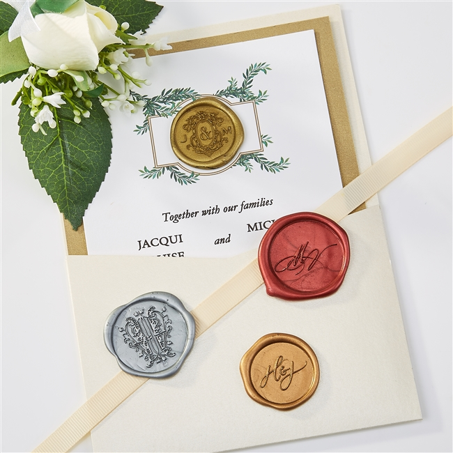 Self Adhesive Wedding Logo Wax Seal Stickers-Medium Sizes