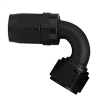 -8 AN Aeroquip 120° Reusable Hose End Black