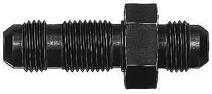 -8 AN Straight Bulkhead Union Black