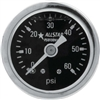 Shockproof Mechanical Fuel Pressure Gauge 0 - 60 PSI