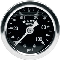 Shockproof Mechanical Fuel Pressure Gauge 0 - 100 PSI
