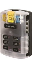 ATO/ATC Fuse Block w/Negative Bus - 6 Circuits with Cover