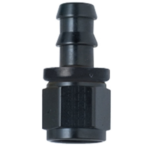 -12 Straight Push-Lock Hose End Black