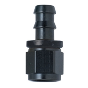-20 Straight Push-Lock Hose End Black