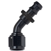 -6 Push-Lock 45 Deg Hose End Black