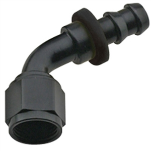 -8 Push-Lock 60 Deg Hose End Black