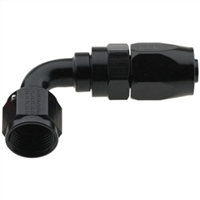 -4 AN Fragola 90° Reusable Hose End Black