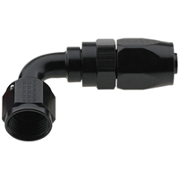 -10 AN Fragola 90° Reusable Hose End Black
