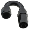 -4 AN Fragola 180° Reusable Hose End Black