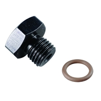 Fragola -6 AN 9/16-18 Thread O-Ring Boss Plug Black