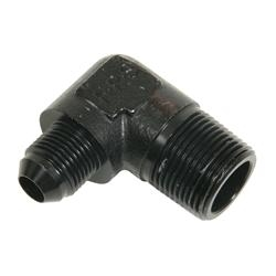 Fragola -8 AN to 3/4 NPT 90° Adapter Fitting Black