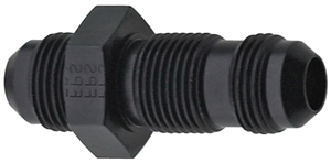 -12 AN Straight Bulkhead Union Black