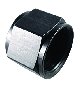 -8 AN Tube Caps Black