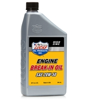 SAE 20W-50 Lucas High Zinc Break-In  Engine Oil Qt.