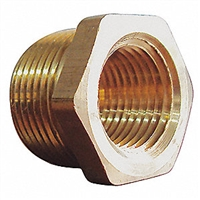 3/4 Pipe to 1/2 Pipe Reducing Bushing Brass
