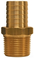 "1-1/4"" Hose to 1"" Male Pipe hose Barb Brass"