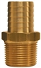 "1"" Hose to 3/4"" Male Pipe Hose Barb Brass"