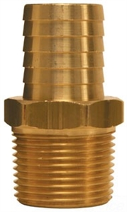 "1-1/4"" Hose to 3/4"" Male Pipe hose Barb Brass"
