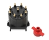 GM External Coil Distributor Cap & Rotor Black