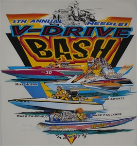 5th Annual Needles V-Drive Bash Tee Shirt White