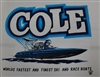 Vintage Cole Custom Boats T-Shirt in Blue