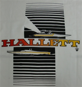 Vintage Hallett Custom Boats T-Shirt