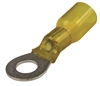 "1/4"" Heat Shrink Ring Terminals Yellow"