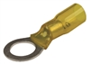 "3/8"" Heat Shrink Ring Terminals Yellow"