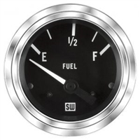 "2-1/16"" Stewart Warner Deluxe Fuel Level Gauge Marine"