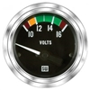 "2-1/16"" Stewart Warner Deluxe Voltmeter W/ Color Band Gauge Marine"