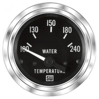 "2-1/16"" Stewart Warner Deluxe Water Temp Gauge 100 to 240 Marine"