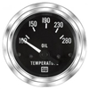 "2-1/16"" Stewart Warner Deluxe Oil Temp Gauge 100 to 280 Marine"