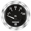 "2-1/16"" SW Deluxe Oil Pressure Gauge 0 to 100 Marine"