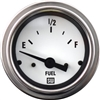 "2-1/16"" Stewart Warner Deluxe Fuel Level Gauge White"