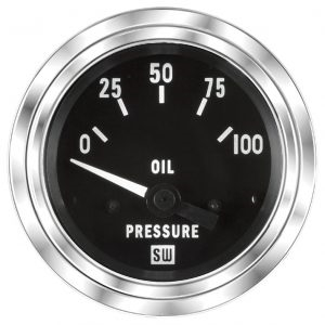 "2-1/16"" SW Deluxe Oil Pressure Gauge 0 to 100"