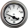 "2-1/16"" SW Deluxe Oil Pressure Gauge 0 to 100 White"