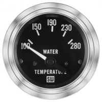 "2-1/16"" Stewart Warner Deluxe Water Temp Gauge 100 to 280"