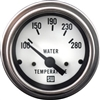 "2-1/16"" Stewart Warner Deluxe Water Temp Gauge 100 to 280 White"